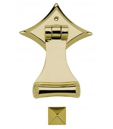Heurtoir marteau de porte en laiton massif série Sienne