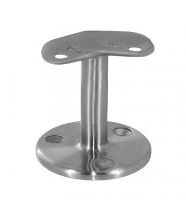 Support à 45° pour main courante ronde sur muret