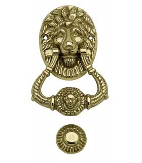 Heurtoir marteau de porte d'entrée tête de Lion Naples