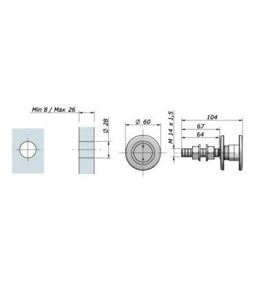Fixation sur verre pour supports Astra