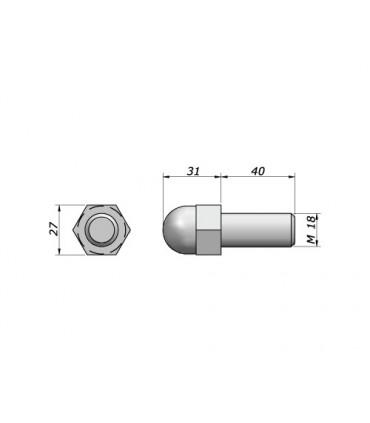 Fixation simple sur poteau pour supports Astra
