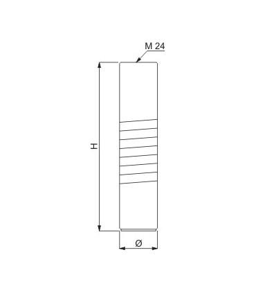 Pied de meuble diamètre 35 mm