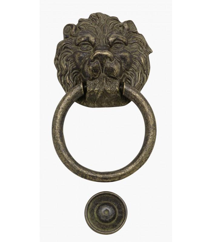 Heurtoir marteau de porte en laiton massif Tête de Lion Magnum