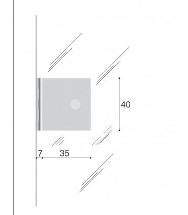 Charnière 40/35 porte vitrée CP00305B Confalonieri