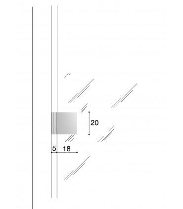 Charnière 20/18 porte vitrée CP00306B Confalonieri