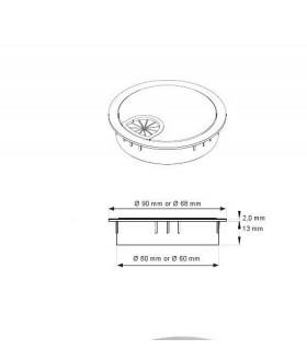 Passe câble zamack série Rond Ø 90 mm by SISO