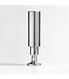 Pied de meuble aluminium poli diamètre 35 mm