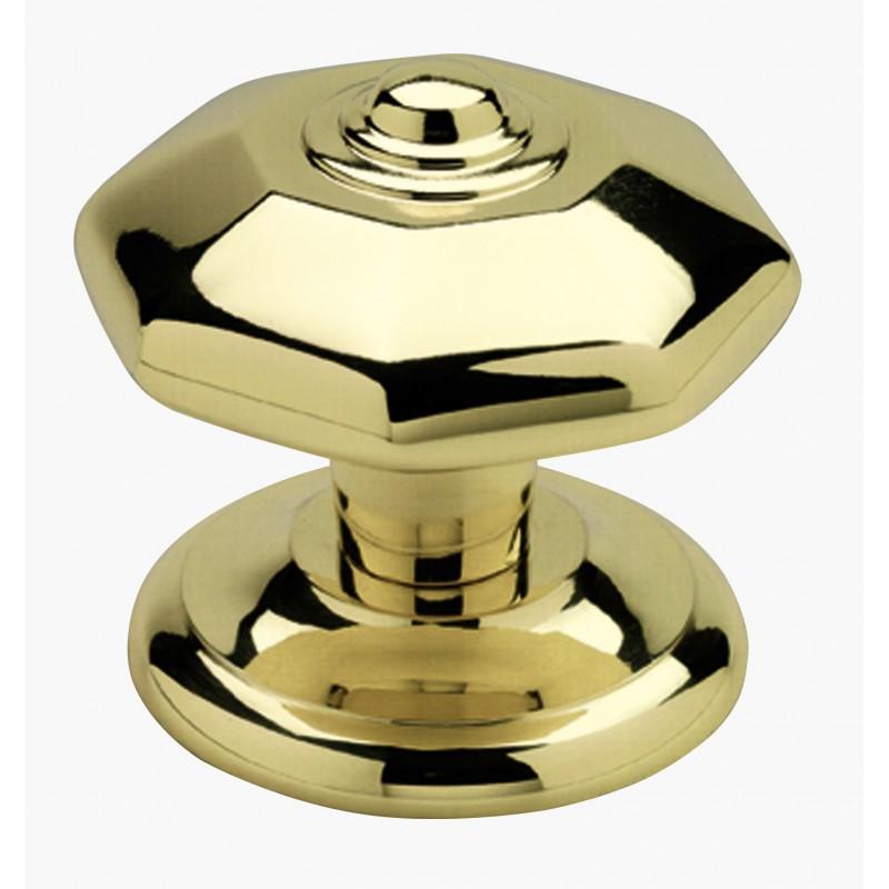 poign e bouton de porte en laiton massif s rie octogonal. Black Bedroom Furniture Sets. Home Design Ideas