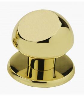 Poignée bouton de porte en laiton massif série Pluton