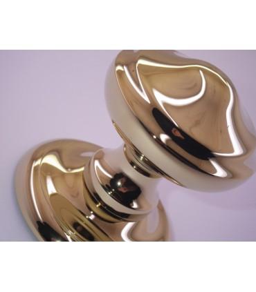 Poignée bouton de porte en laiton massif série Victoria
