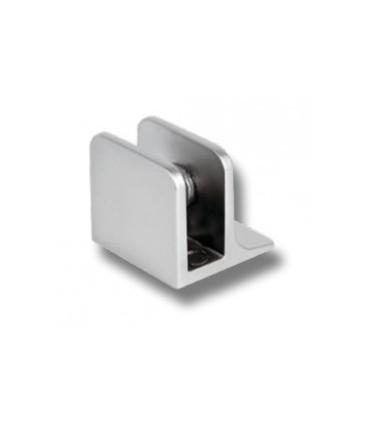 Pince fixe pour verre d'épaisseur 4 à 8 mm chromé mat velours