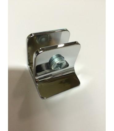 Pince fixe chrome brillant pour verre d'épaisseur 4 à 8 mm