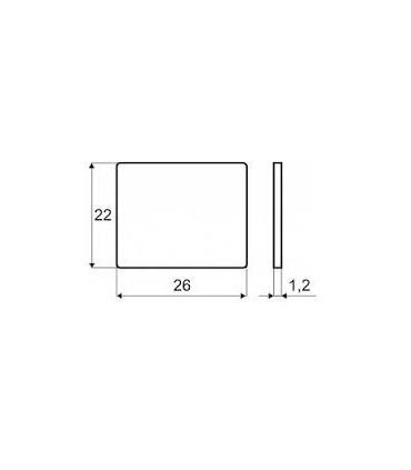 Plaque adhésive rectangulaire pour loquet magnétique