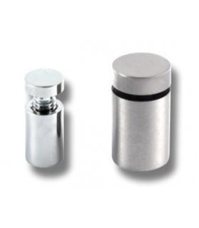 Entretoise laiton effet inox Ø 13, et 19 mm pour signalétique