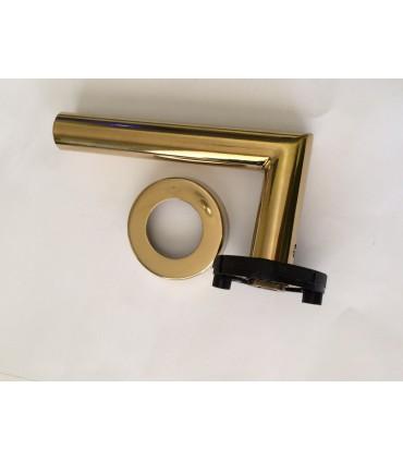 Paire de poignée béquille revêtue Titane gold série IN.00.030 par JNF
