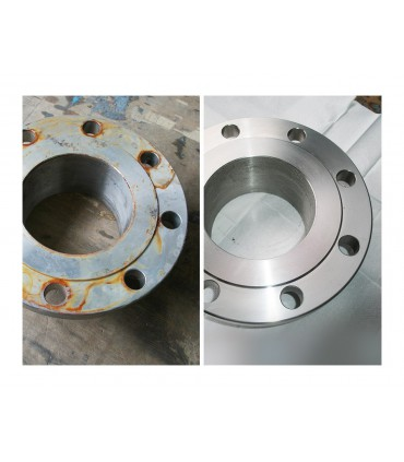Protection inox INNOPROTECT B580 sur pièce mécanique