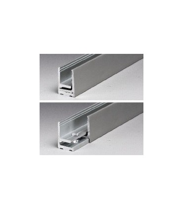 Profil aluminium avec parclose de 30 x 21 x 30 mm série Profix 2130