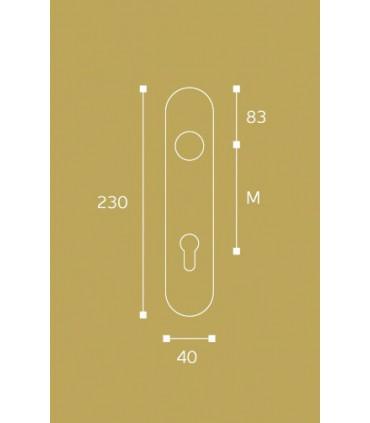 Paire de plaque en cuivre forme arrondie clé I
