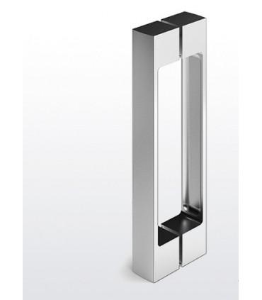 Paire de poignée chromé brillant série MT770 pour porte de douche en verre