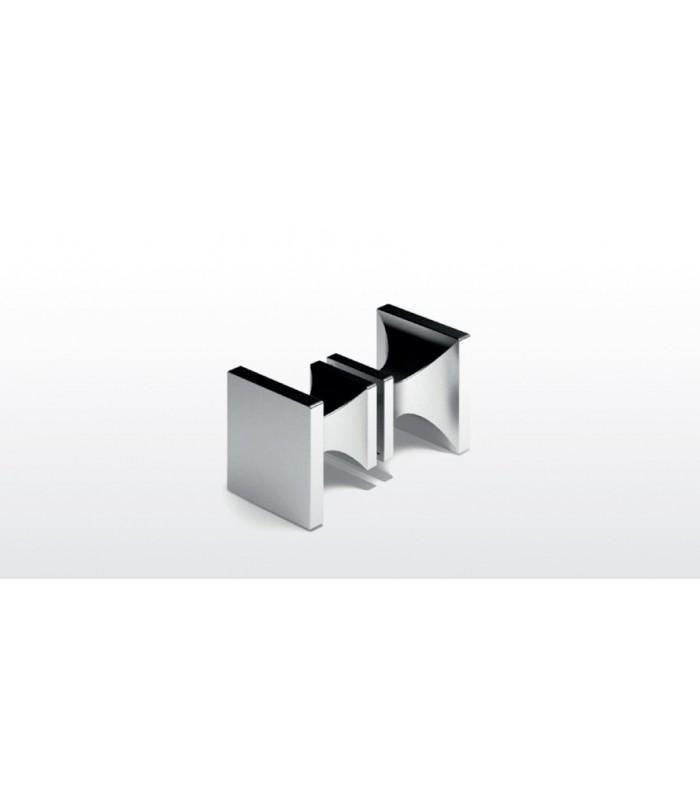 paire de poign e bouton carr pour porte de douche en verre. Black Bedroom Furniture Sets. Home Design Ideas