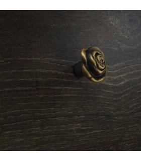Poignée bouton série Rose bronze antique