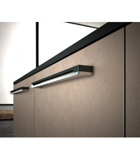 Poignée de meuble bi-color velours design série 818