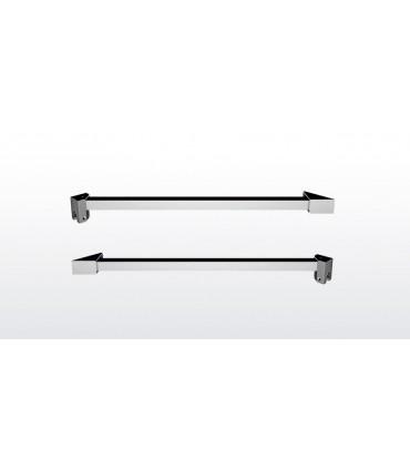 Barre raidisseur carrée pour cloison de douche fixation à 45°