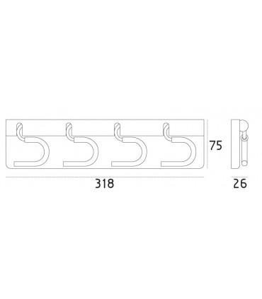Crochets porte balais CC00231 par Confalonieri
