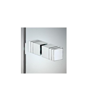 Paire de poignée bouton carré pour porte en verre