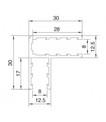 Profil angulaire de 30 x 30 mm