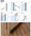 Grand profil aluminium finition effet inox