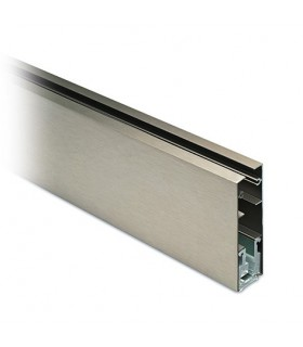 Grand profil aluminium pour la fixation d'un verre fixe