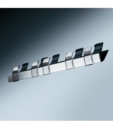 Patère 5 crochets sur rail en aluminium PA01288 par Confalonieri
