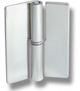 Charnière inox montage verre sur verre à coller