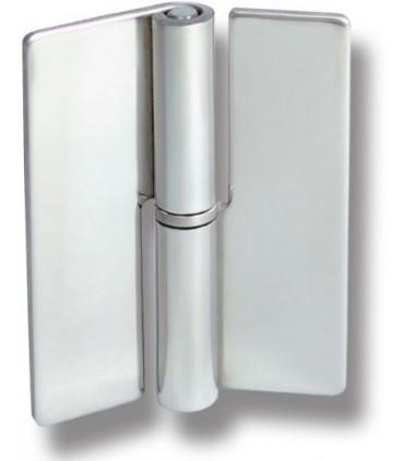 Charnière en inox montage verre sur verre à coller