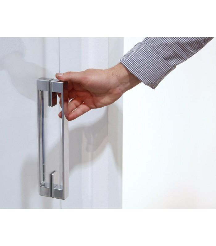 Poign e coller sur porte de douche en verre - Carre pour poignee de porte ...