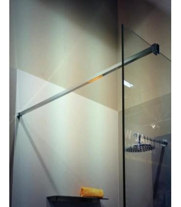 Barre raidisseur carrée pour cloison de douche fixation à 90°