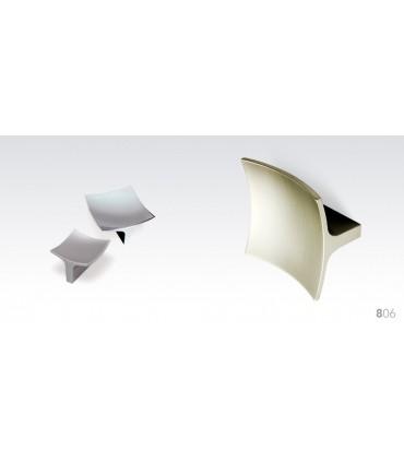 Poignée bouton carré forme concave série 806