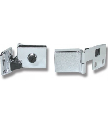 Paire de charnière haute & basse à blocage pour porte en verre d'épaisseur maxi 6 mm