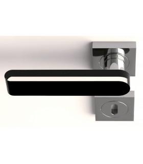 Paire de béquilles Round home transparent et noir par Arius Home