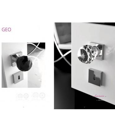 Paire de béquilles Geo transparent Ø 60 mm par Arius Home