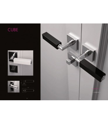 Paire de béquilles Cube home en noir opaque par Arius