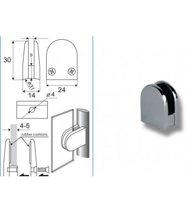 Pince fixe pour verre d'épaisseur 4 à 5 mm