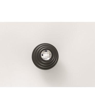 Bouton de meuble série Twist cristal Swarovski et graphite