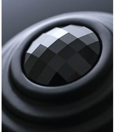 Bouton de meuble série Twist cristal Swarovski noir