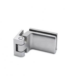 Paumelle inox avec fiche de 45 mm pour porte clarit en verre