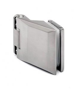Paumelle verticale avec fiche pour porte clarit en verre
