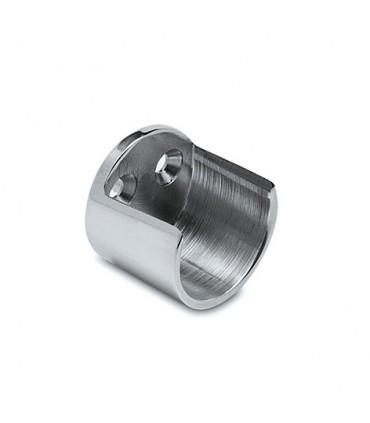 Embase ouverte pour barre de penderie Ø 25 ou 38 mm chromé brillant