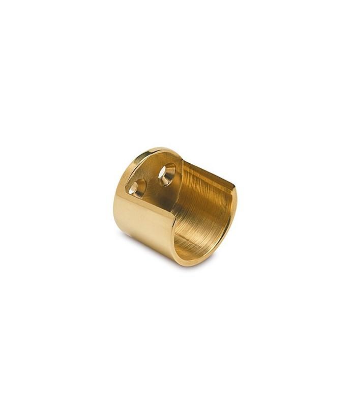 Embase ouverte pour barre de penderie Ø 25 ou 38 mm doré brillant