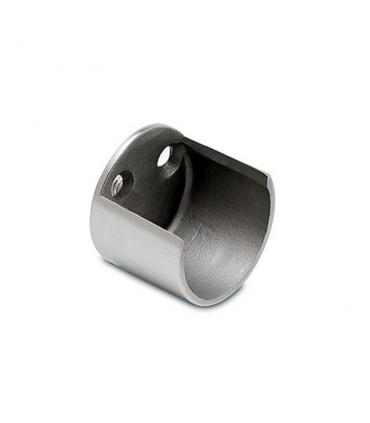 Embase ouverte pour barre de penderie Ø 25 ou 38 mm effet inox